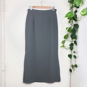 Vintage KGR Maxi Skirt Grey/Blue Size 10 VTG